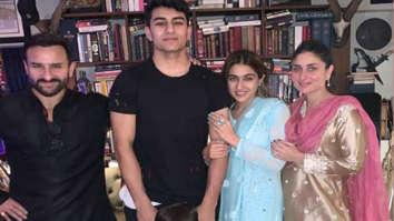 Sara Ali Khan celebrates Diwali with Saif Ali Khan, Kareena Kapoor, Ibrahim and Taimur; see pics