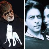 Amitabh Bachchan indulges in a serious conversation with Shah Rukh Khan and Gauri Khan
