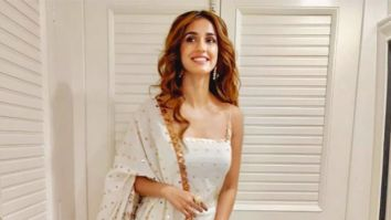 Disha Patani looks ethereal in a white ethnic outfit as she heads for Mahurat Puja for Radhe