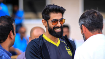 ISL 2019 - 2020: Rana Daggubati meets the Hyderabad FC players during their first match