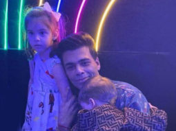 Karan Johar poses adorably with his daughter Roohi and 'camera shy' son, Yash