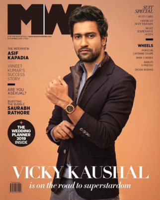 Vicky Kaushal on the cover of Man's World, Nov 2019