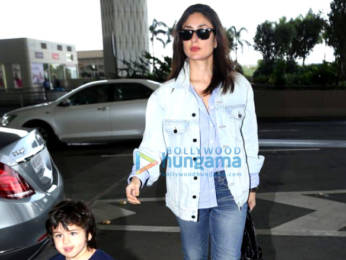 Photos: Kareena Kapoor Khan and Taimur Ali Khan snapped at the airport