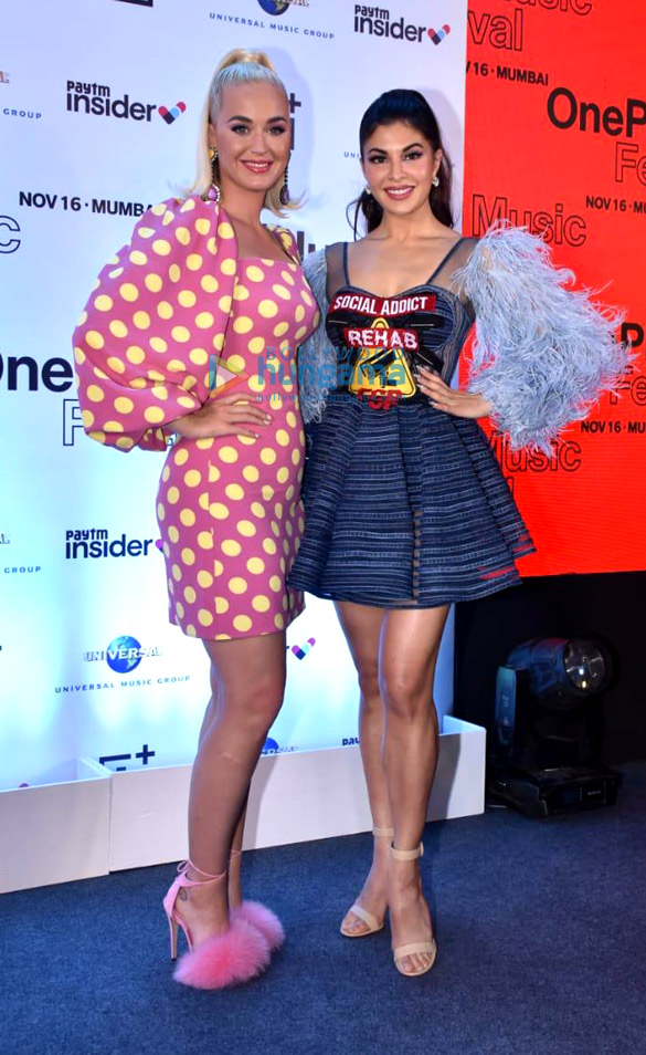 Photos: Katy Perry and Jacqueline Fernandez snapped at press conference for OnePlus Music Festival 2019