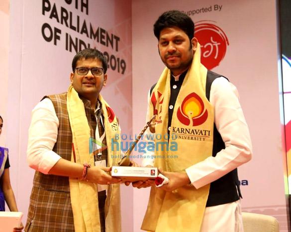 Photos: Raaj Shaandilyaa, Union Minister Smriti Irani and Arjun Rampal snapped in Ahmedabad