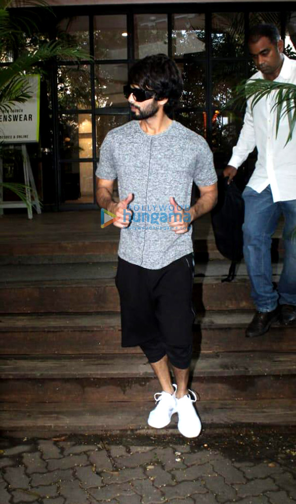 Photos: Shahid Kapoor spotted at Antigravity gym in Pali Hill