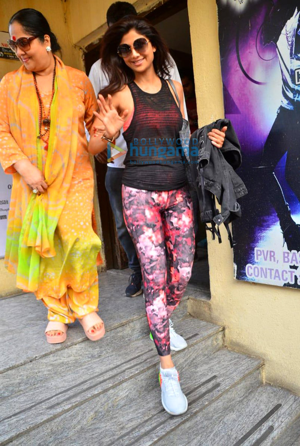 Photos: Shilpa Shetty snapped with family at PVR, Juhu