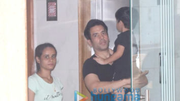 Photos: Tusshar Kapoor and Laksshya Kapoor spotted at a play school in Bandra