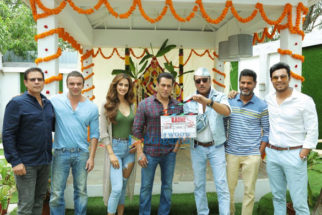 on the sets of the movie Radhe - Your Most Wanted Bhai