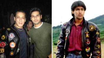 Bhagyashree's son Abhimanyu Dassani gifts Salman Khan the iconic jacket from Maine Pyar Kiya