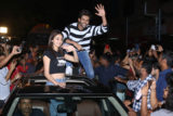 Kartik Aaryan, Ananya Panday & Bhumi P visit Gaiety Galaxy for Public Reaction Pati Patni Aur Woh