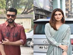 Kriti Sanon & Arjun Kapoor spotted promoting their Film Panipat