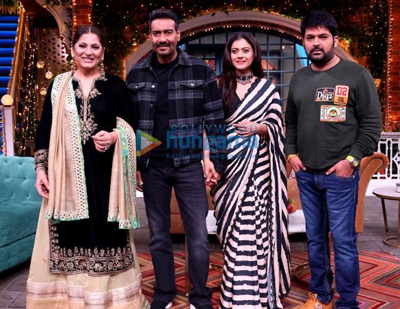 Photos: Ajay Devgn and Kajol promote Tanhaji - The Unsung Warrior on the sets of The Kapil Sharma Show