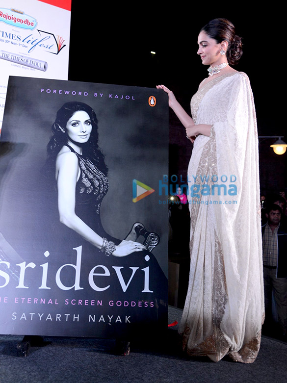 Photos: Deepika Padukone and Boney Kapoor snapped during the book launch on Sridevi's life at LitFest 2019