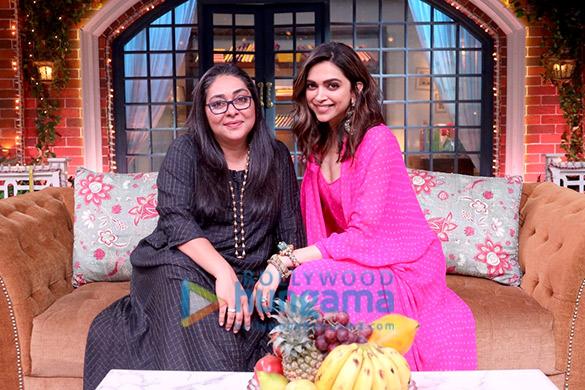 Photos: Deepika Padukone snapped on the sets of The Kapil Sharma Show