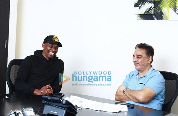 Photos Kamal Haasan and Dwayne Bravo snapped in Chennai (1)