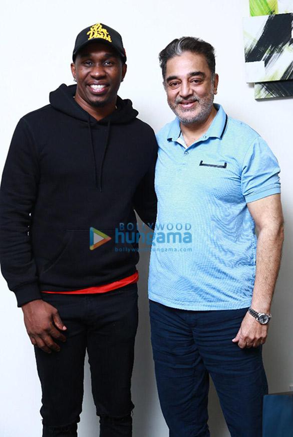 Photos Kamal Haasan and Dwayne Bravo snapped in Chennai (5)