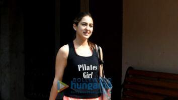 Photos: Sara Ali khan, Janhvi Kapoor, Sharmin Segal and Namrata Purohit spotted at Pilates class