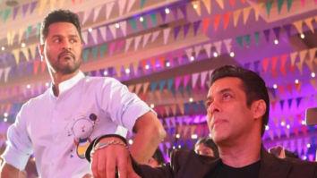 Salman Khan shares a still with Prabhu Deva from the launch of 'Munna Badnaam Hua'