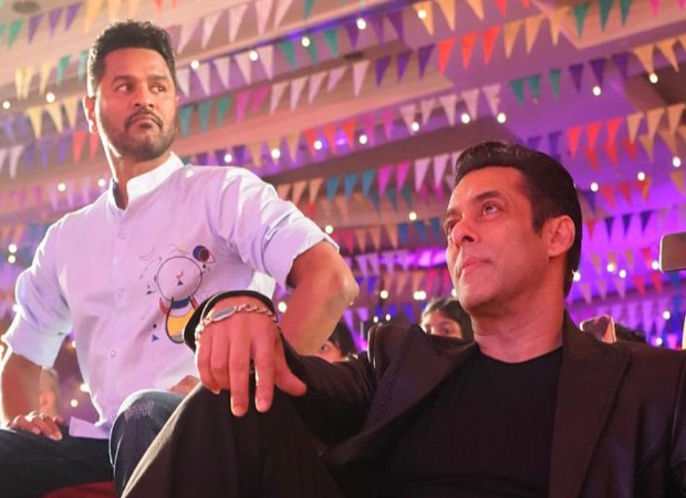 Salman Khan shares a still with Prabhu Deva from the launch of 'Munna Badnaam Hua'