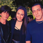Sonakshi Sinha wishes Salman Khan on his birthday as they pose with Shah Rukh Khan
