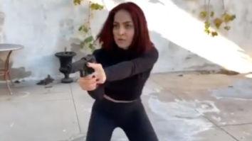 Watch: Elli AvrRam gets into action mode training with MI6 stunt coordinator Daniel Locicero