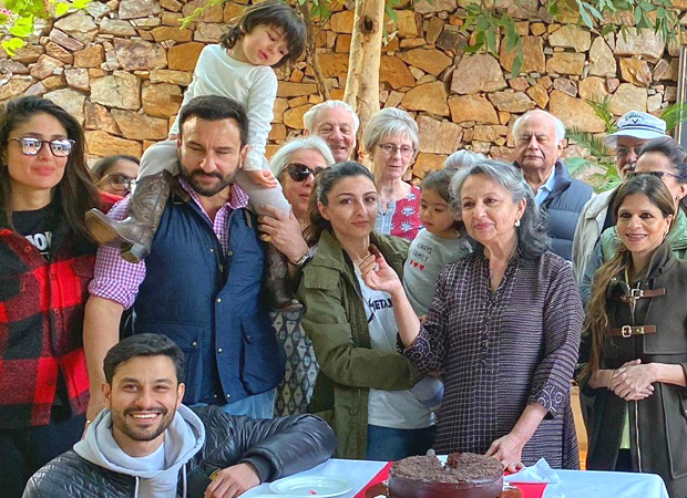 Taimur Ali Khan has his eyes on the cake as grandmother Sharmila Tagore celebrates 75th birthday! See photo