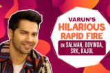 """Varun-Shraddha - The better chemistry than SRK-Kajol Varun RESPONDS to fan comment Rapid Fire"