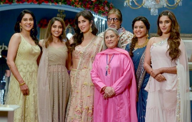 Amitabh Bachchan shares a photo with Katrina Kaif, Jaya Bachchan, Manju Warrier, Regina Cassandra, Reba Monica John and Nidhi Agerwal