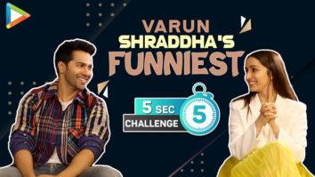 CRAZY Varun & Shraddha's 5 Second Challenge Top 3 Actors Love in 3 Words Street Dancer