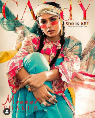 Mrunal Thakur on the cover of Candy, Jan 2020