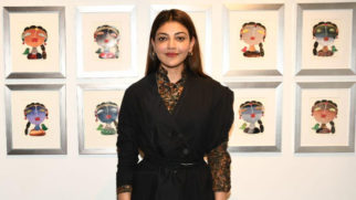 Kajal Aggarwal at Studio 3 Art Gallery's Divine Intervention by artist G. Subramanian and P. Gnana