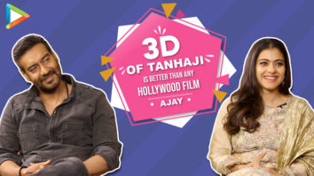 """Kajol """"Ajay Devgn is very Hard-Working, I have not even reached…"""" Tanhaji 3D Effects"""