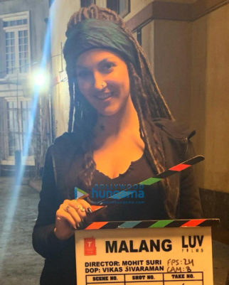 on the sets of the movie Malang