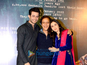 Photos: Aadil Khan, Sadia and Vidhu Vinod Chopra attend the special screening of Shikara at PVR Plaza in Delhi