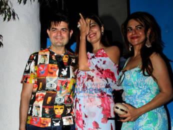 Photos: Celebs snapped at Kim Sharma's birthday celebration at Olive in Bandra