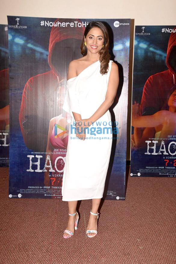 Photos Hina Khan, Rohan Shah and Vikram Bhatt snapped promoting their film Hacked (4)