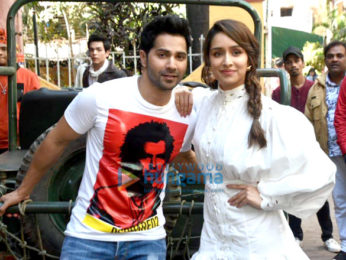 Photos: Varun Dhawan and Shraddha Kapoor snapped on the sets of Tarak Mehta Ka Ooltaah Chashmah