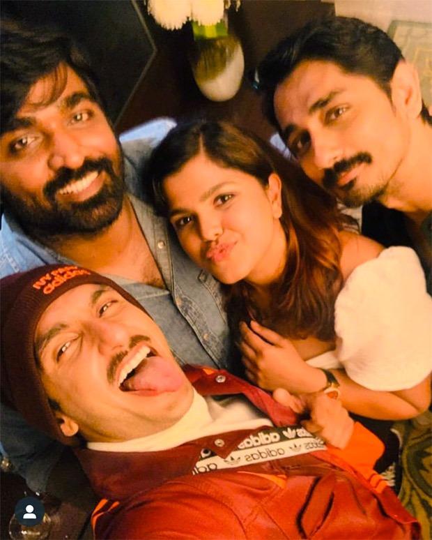 Ranveer Singh clicks a selfie with South superstars Kamal Haasan, Vijay Sethupathi and Siddharth