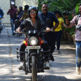 Sonakshi Sinha rides a bike to the sets of Kareena Kapoor Khan's show What Women Want