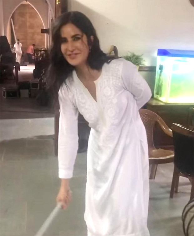 Akshay Kumar shares a video of Katrina Kaif sweeping the floor on the sets of Sooryavanshi
