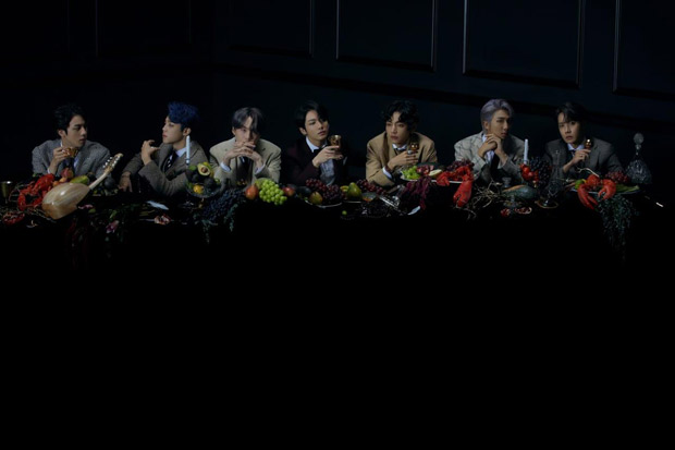 BTS drops third concept photos ahead of Map Of The Soul 7 & it feels like Da Vinci's The Last Supper