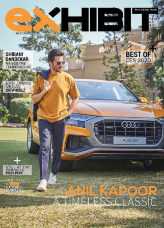Anil Kapoor on the cover of Exhibit, Feb 2020