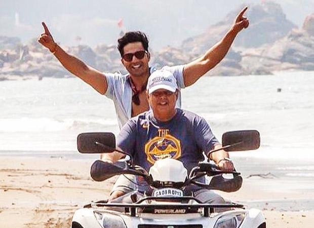 Varun Dhawan and 'daddy cool' David Dhawan ride an ATV in Goa, see photo