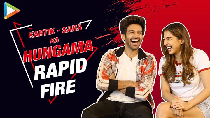 Kartik-Sara at their FUNNIEST- Try Not To Laugh Rapid Fire Saif Ali Khan Taimur Love Aaj Kal