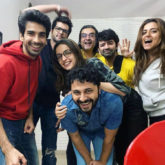 Mohit Sehgal, Sanaya Irani, and Barun Sobti posing goofily with their buddies is every friend circle ever!