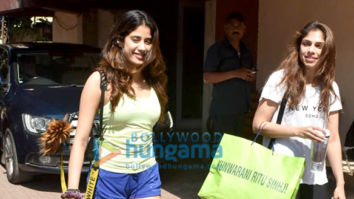 Photos: Janhvi Kapoor and Sharmin Segal snapped at Pilates class