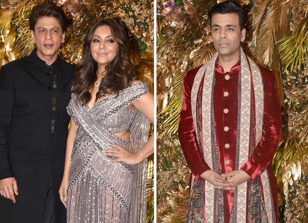 Shah Rukh Khan and Gauri Khan groove on 'Sadi Gali', Karan Johar joins them for 'Kajra Re' performance at Armaan Jain - Anissa Malhotra's reception