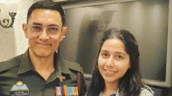 Laal Singh Chaddha: Aamir Khan poses in military uniform in this on the sets image