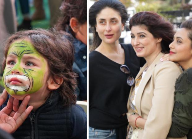 PICS: Taimur paints his face; mom Kareena Kapoor poses with Twinkle Khanna and Rani Mukerji at the birthday bash fro Karan Johar's twins